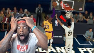 Lebron James Dunked On Anthony Davis! Lakers vs Pelicans NBA 2K19 MyCareer Ep 71