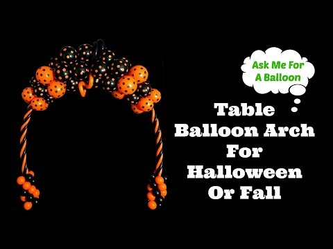 Table Balloon Arch Halloween or Fall Decoration - Balloons Online