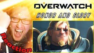 "Overwatch Animated Short   ""Honor and Glory"" REACTION!   REINHARDT'S ORIGIN STORY!  "