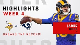Jared Goff Shatters TNF Passing Record w/ 465 Yards & 5 TDs!