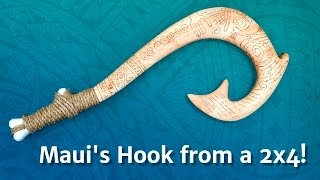 Kid Size Maui's Hook From a 2x4 - Disney's Moana