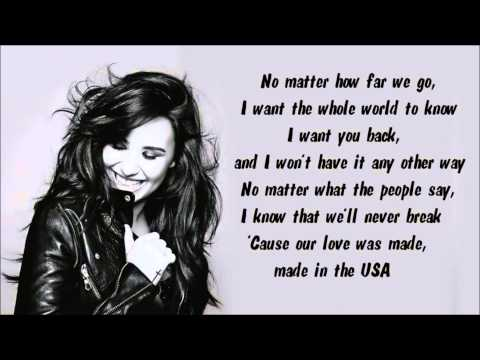 Baixar Demi Lovato - Made In The USA Instrumental / Karaoke with lyrics on screen