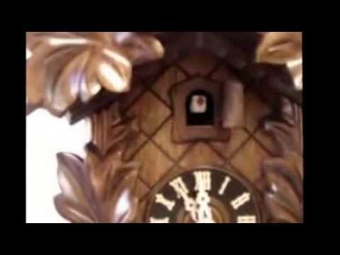 Hones Cuckoo Clock - Carved | Leaf | Bird | Black Forest | 100/2