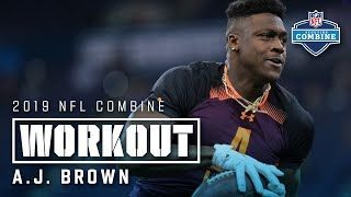 A.J. Brown's 2019 NFL Combine Workout