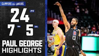 Paul George (24 PTS) Goes to Work vs. Los Angeles Lakers   LA Clippers