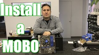 How to install a motherboard (easy) - tools in description