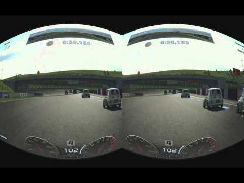 PS3 Gran Tourismo 5 stereoscopic 3D realtime rifted for Oculus Rift @ Blackmagic Intensity Pro