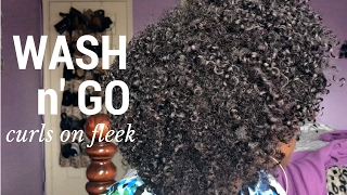 The Best Wash and Go Method for Kinky Natural Hair using Eco Styler Gel