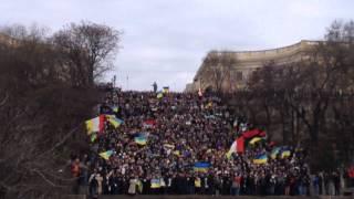 Одесса гимн Украины на Потемкинской лестнице