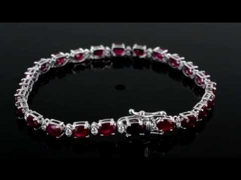 Browns Family Jewellers Diamond and Ruby Bracelet
