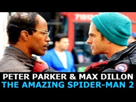 Peter Parker & Max Dillon New Set Pics THE AMAZING SPIDER ...