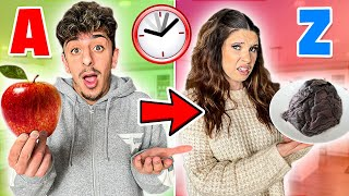 Eating in Alphabetical Order for 24 HOURS! (A to Z Food Challenge)