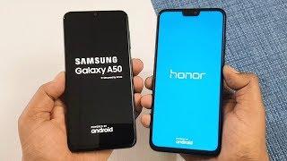 Samsung Galaxy A50 vs Honor 8X SpeedTest & Camera Comparison