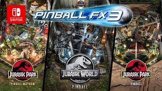 Pinball fx3 switch avec les tables jurassic park et jurassic world
