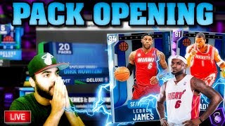 PACK OPENING LIVE! DIAMOND LEBRON & AMETHYST TRACY MCGRADY COME HOME! NBA 2K20 MYTEAM