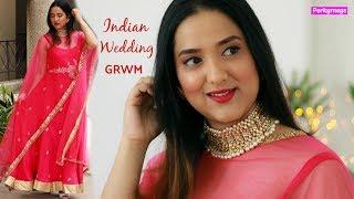 Indian Wedding GRWM   Indian Party Makeup Tutorial   Perkymegs