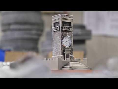 Goulburn Valley Clock made by Buckingham Pewter