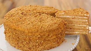 Medovik - Russian Honey Cake Recipe