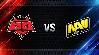 Natus Vincere vs HellRaisers - day 4 week 8 Season I Gold Series WGL RU 2016/17