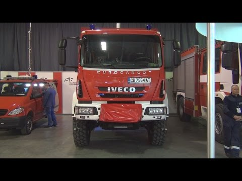 Iveco Eurocargo 150 E 28 E6 Fire Truck Exterior and Interior in 3D