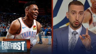 Nick Wright reacts to Russell Westbrook's historic 20-20-20 game | NBA | FIRST THINGS FIRST