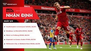 Nhận định bóng đá ngày 5/4: Liverpool sẽ chiến thắng vì mục tiêu vô địch?