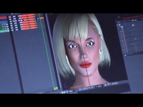 "Interactive MOCAP 3D Virtual Girl at ""Žmonės"" magazine 15 years event show"