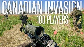 100-PLAYER CANADIAN INVASION! - Squad 50 vs 50 Gameplay (Full Round)