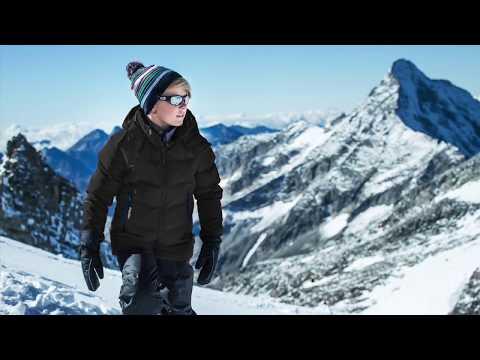 Reima Wakeup Boys Down Ski Jacket in Black