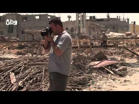 عدسات غزة ... عين الجمال والحرب