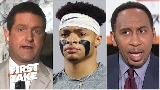 Stephen A. asks Todd McShay why Justin Fields' draft stock keeps changing   First Take