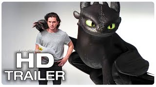 Kit Harington vs Toothless Funny Scene - HOW TO TRAIN YOUR DRAGON 3 (2019) Movie CLIP HD