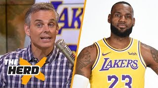 Colin Cowherd reacts to LeBron's first media day with the Lakers | NBA | THE HERD