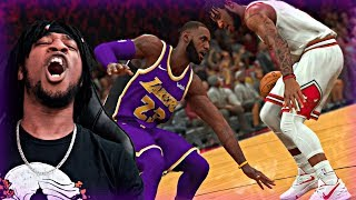 MAKING LEBRON TOUCH THE FLOOR!! 1st GAME AGAINST THE LAKERS WITH ANTHONY DAVIS! - NBA 2K20 MyCAREER