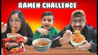 El Ramen Mas Picante   Noodles Challenge   Family Juega