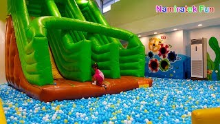 In Malaysia play kids toys playground slide show ball pits, trampoline, kiddie rides mini merry