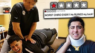 Going to the WORST REVIEWED CHIROPRACTOR in my City! *ADJUSTMENT GONE WRONG*