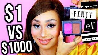 10 Dollar Makeup vs. 1000 Dollar Makeup: THE SAME LOOK | MyLifeAsEva