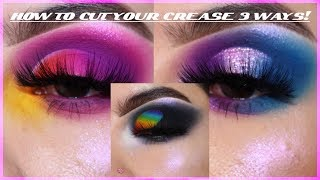 HOW TO CUT YOUR CREASE 3 DIFFERENT WAYS | Rocio Ceja