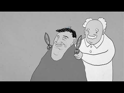 おじさんが床屋で髪を切るだけのアニメ - 短編アニメーション『BarBer』