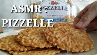 ASMR - eating sounds : PIZZELLE - ITALIAN WAFFLE COOKIES 👍😊