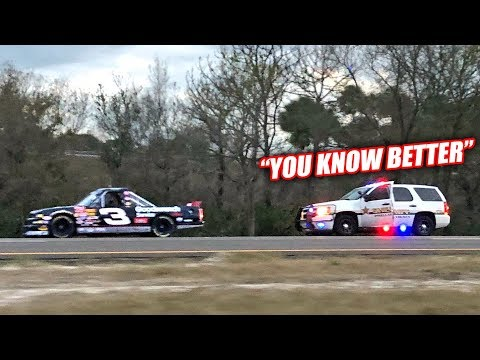 I Got PULLED OVER in my NASCAR! (too many bald eagles)