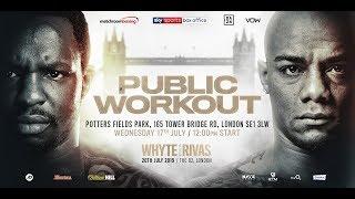 Public Workout | Dillian Whyte vs Oscar Rivas plus undercard