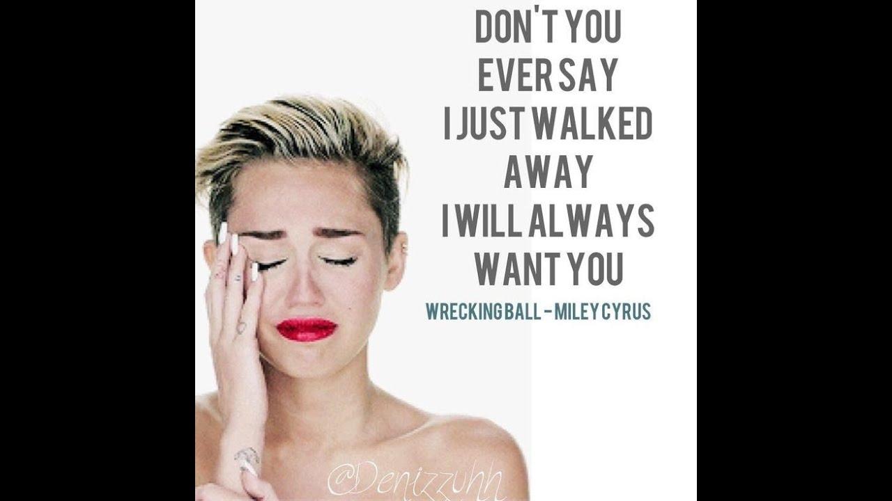 Wrecking Ball - Miley Cyrus Lyrics - YouTube