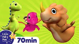 Ten Little Dinosaurs | Plus Lots More *Numbers Songs* Nursery Rhymes | 72 Mins from LittleBabyBum!