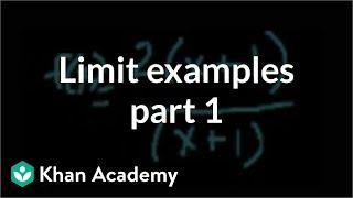 Limit Examples (part 1)
