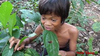 Primitive Technology - Eating delicious - Cacth and cooking frogs