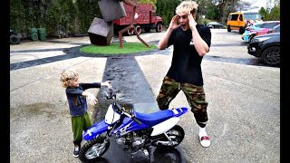 Tydus SURPRISES Jake Paul With A MINI DIRTBIKE For His Birthday!!