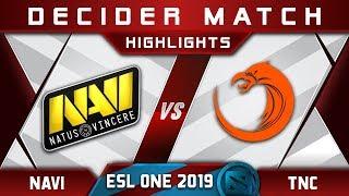 TNC vs NaVi Decider ESL One Mumbai 2019 Highlights Dota 2 - YouTube