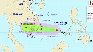 Tin Bão Mới Nhất 18/11/2017  : Chủ động ứng phó với cơn bão số 14